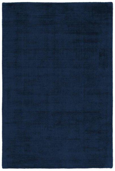 Teppich Used Look Handgewebt Royal-Blau