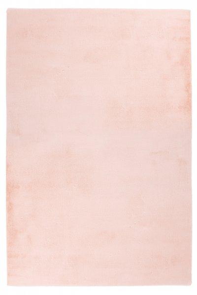 Modernes Kaninchen Fellteppich Carolin Powder Pink