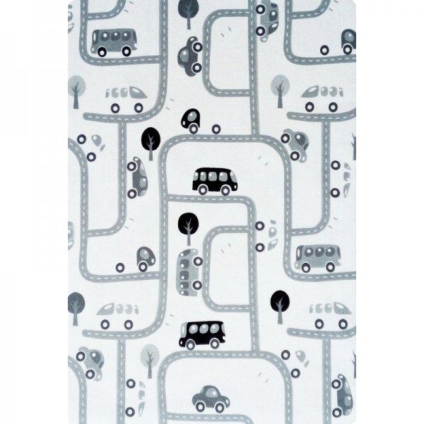 Spielteppich Straßen & Autos Waschbar Grau Weiß