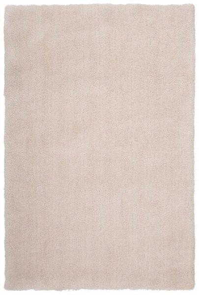 Hochflor Teppich Handgetuftet Weiß Creme