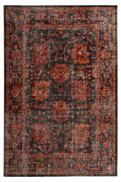 Designteppich Tilda graphite rechteckig Vintage Teppich modern Orientteppich