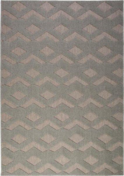 Flachgewebe Wollteppich Grau