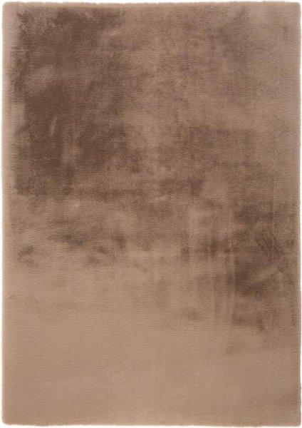 Flauschiger Hochflor Teppich Beige-Braun
