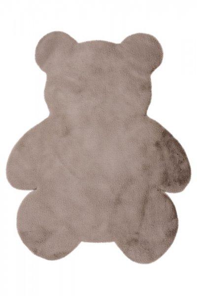Kinderteppich taupe Bär Form Kinderzimmer Teppich