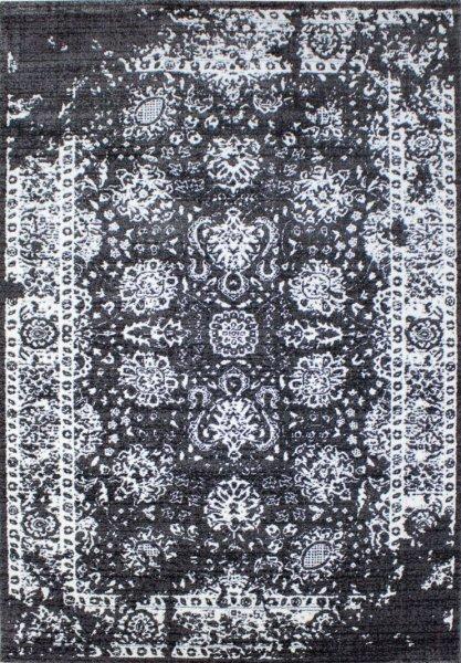Teppich Leon Vintage Schwarz Weiß