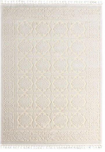 Orientteppich Creme Weiß