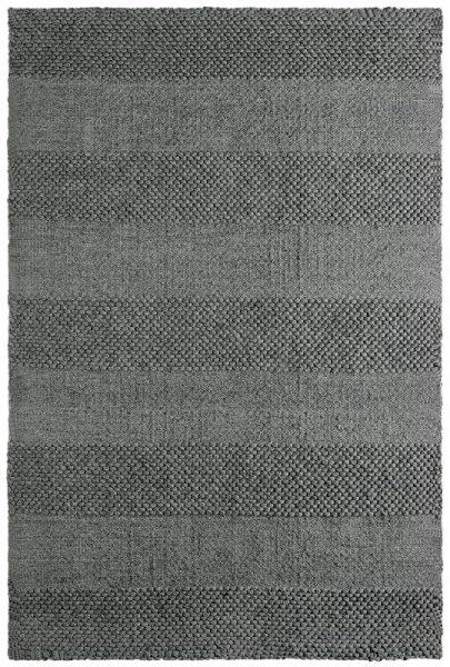 Wollteppich FLORENZ Handgewebt Grau