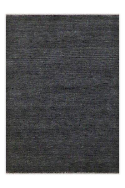 Hochflor Wollteppich RÜGEN Handgewebt Grau