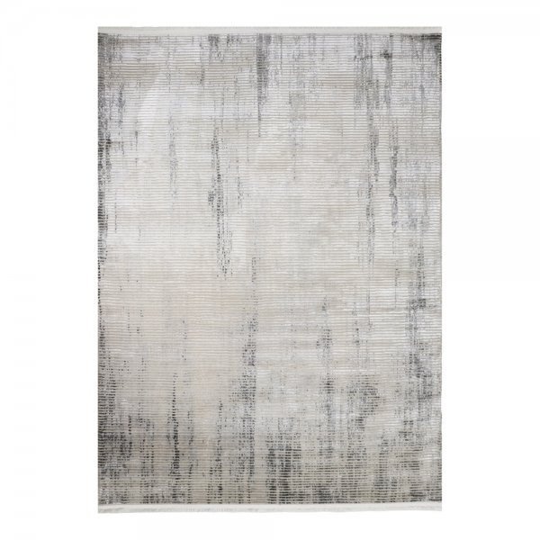 Hochwertig Glanzeffekt Teppich Silber Design