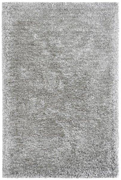Hochflor-Teppich Handgetuftet Hellgrau