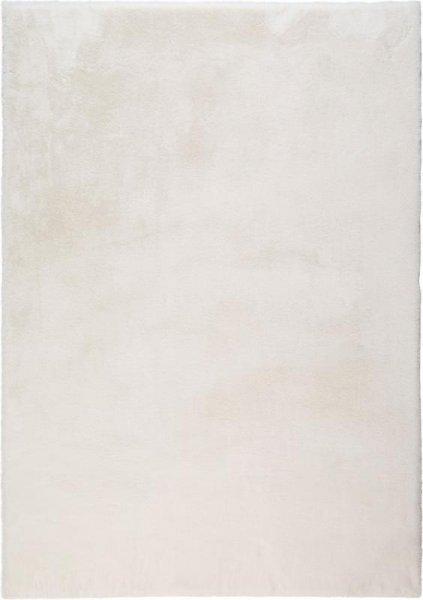 Flauschiger Hochflor Teppich Weiß