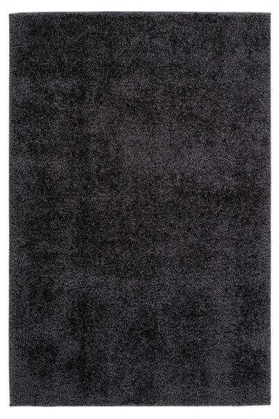 Uni-Desing Hochflor Teppich Emalia Graphite