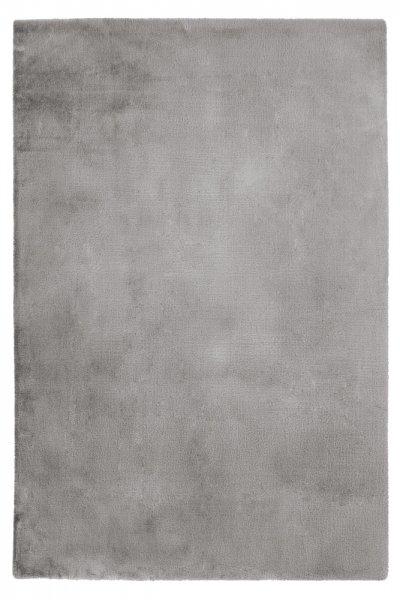Modernes Kaninchen Fellteppich Carolin Silver