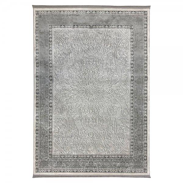 Schimmernd Orient Vintage Teppich Grau