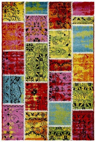 Teppich Patchwork Design Bunt