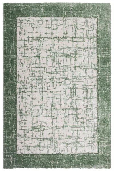 Designer Teppich Grün Creme Weiß