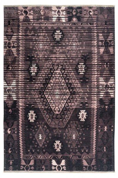 Design Teppich Ela hochwertig und modern Vintage Teppich rosewood