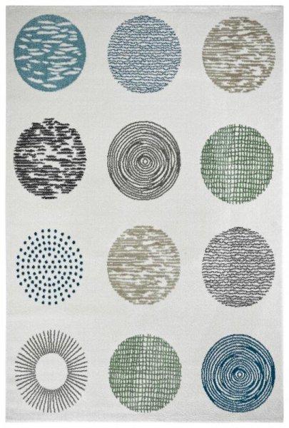 Design Teppich CIRCLE Weiß