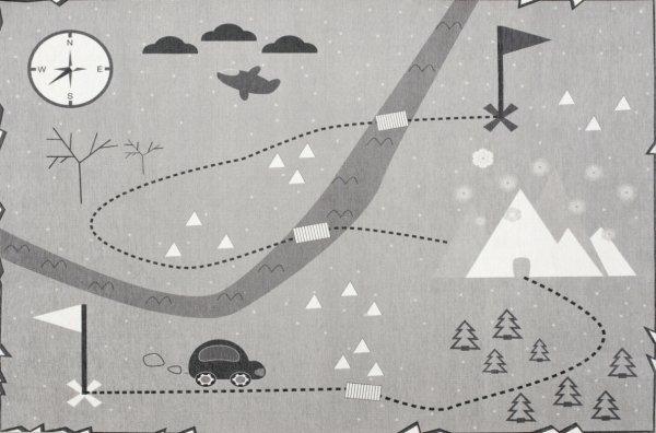 Spielteppich LOUIS Auto & Landschaft Waschbar Grau