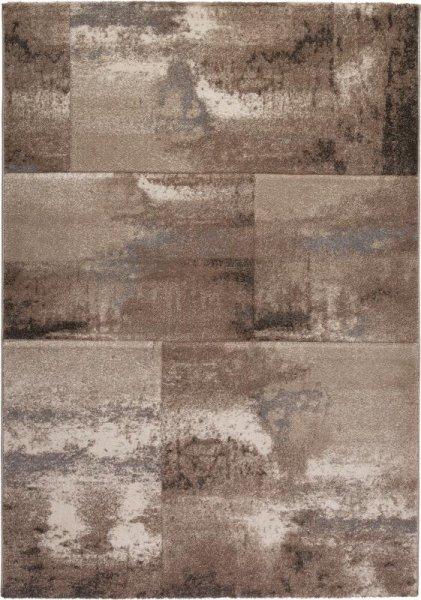 Design Teppich PLANET Braun Taupe
