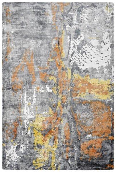 Designer Teppich ETERNITY Handgefertigt Ginger Sand Grau