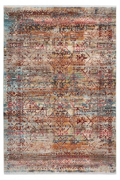Design Teppich Irma multi hochwertig und modern Vintage Teppich
