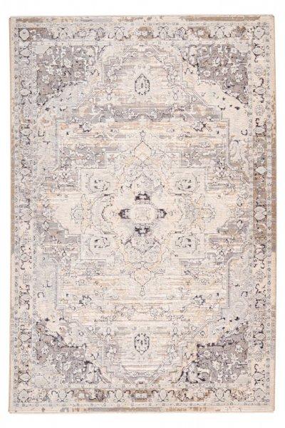 Desingteppich Mia taupe Polyester mit Schrumpfanteil Moderner Teppich