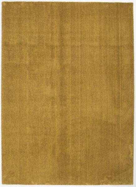 Kurzflor Teppich Waschbar Uni Gold
