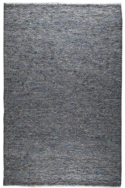 Wollteppich SYLT Handgewebt Grau