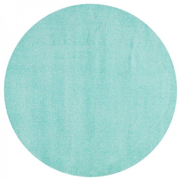 Teppich Rund Uni Mint-Grün