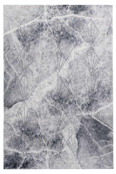 Designteppich Pia grau rechteckig Moderner Teppich hochwertig