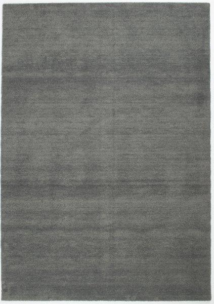 Kurzflor Teppich Waschbar Uni Dunkelgrau