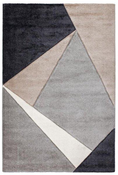 Hochflor Designer Teppich Grau Beige