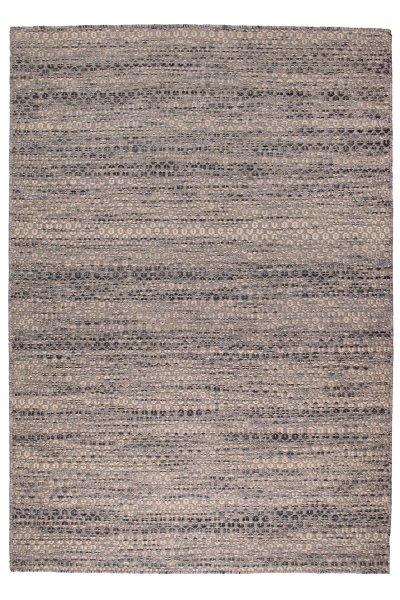 Wollteppich AALBORG Handgewebt Grau Blau