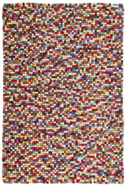 Teppich aus Wolle Handgefertigt Bunt