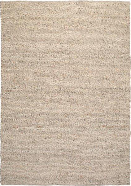 Teppich aus Wolle Handgewebt Creme Weiß