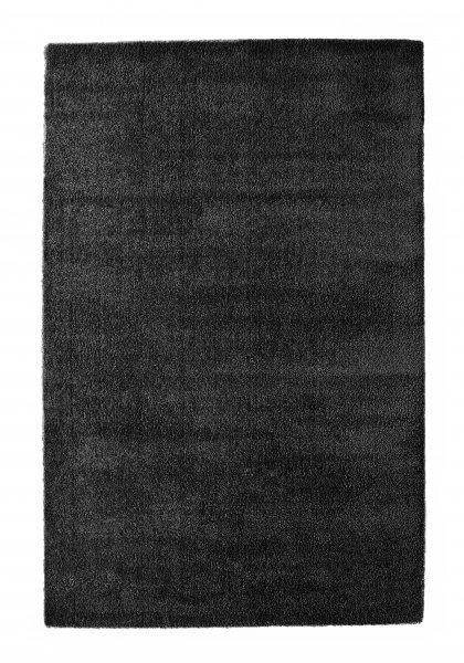 Hochflor Teppich FINN Schwarz