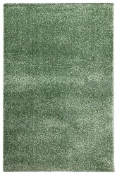 Hochflor Teppich Jadegrün