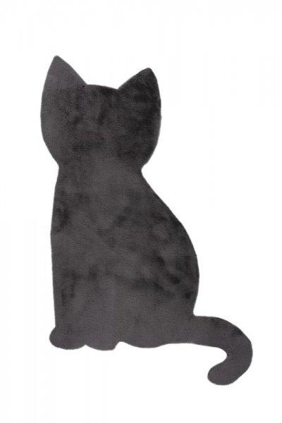 Kinderteppich grau Katze Form Kinderzimmer Teppich