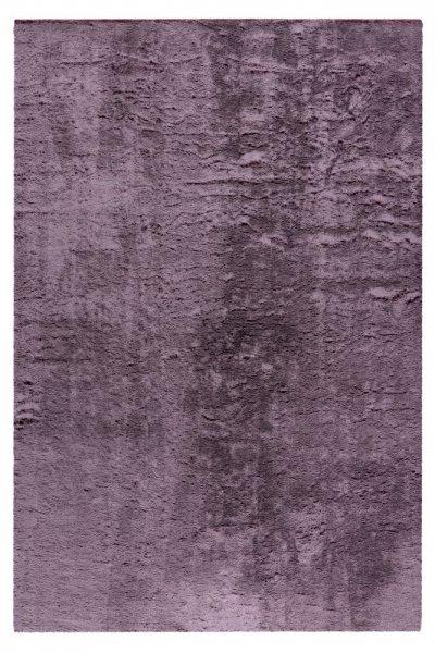 Moderner Teppich Finya violett Kurzflur hochwertig Uni Teppich