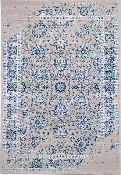 Teppich Leon Vintage Creme Blau