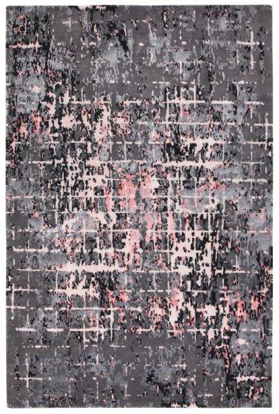 Teppich ELEMENTS Handgeknüpft Grau Rosa