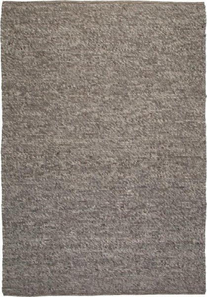 Teppich aus Wolle Handgewebt Grau Silber