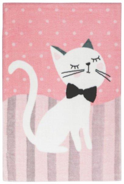 Kinderteppich Katze pink rechteckig Mädchen Teppich Kinderzimmer