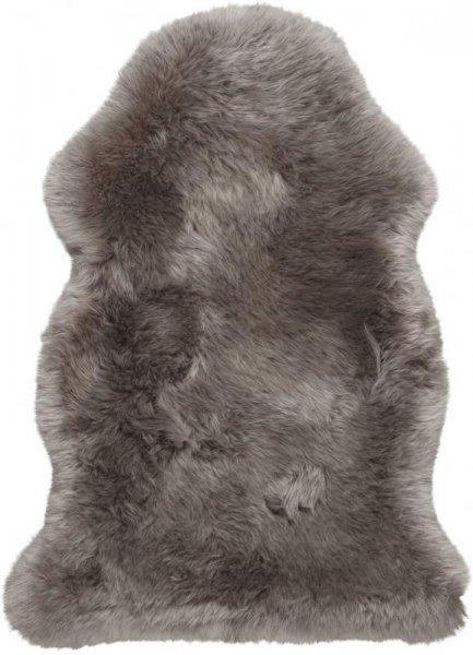 Schaffell Teppich Braun Grau