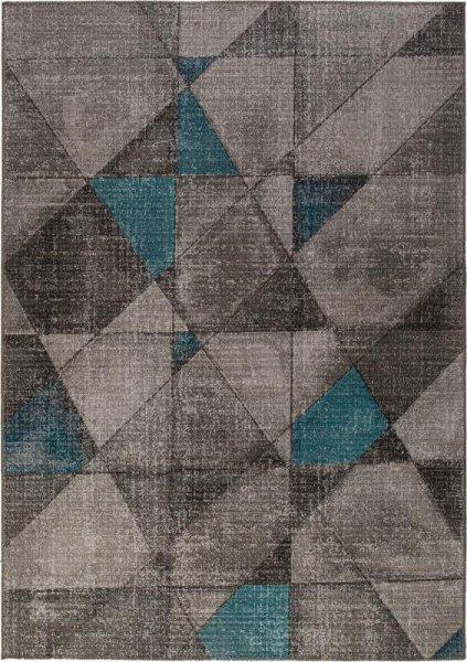 In- & Outdoor Teppich Dreieck Muster Grau