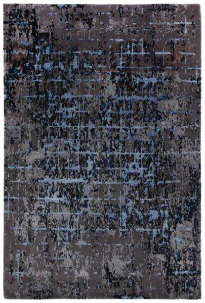 Teppich ELEMENTS Handgeknüpft Grau Blau