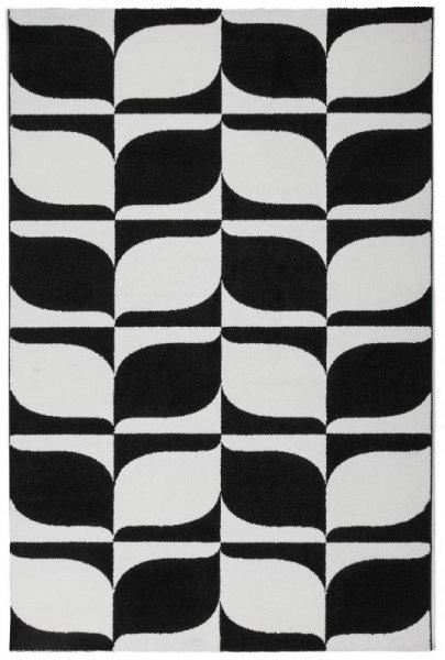 Teppich FELICITY Schwarz Weiß