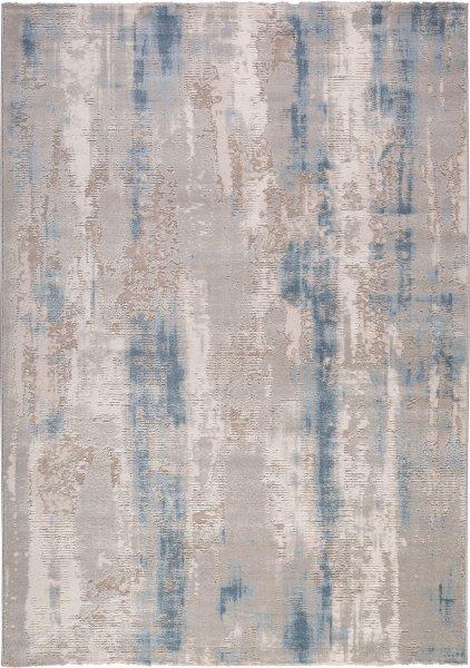Designer Teppich Abstrakt Beige Blau