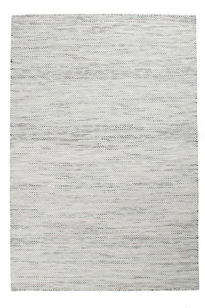Wollteppich VISBY Handgewebt Weiß Grau